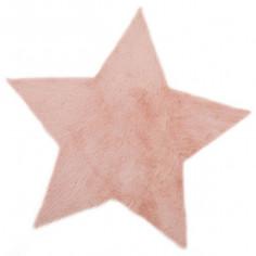 Tapis enfant étoile rose poudré - Pilepoil