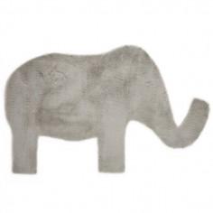 Tapis enfant Eléphant gris clair Pilepoil