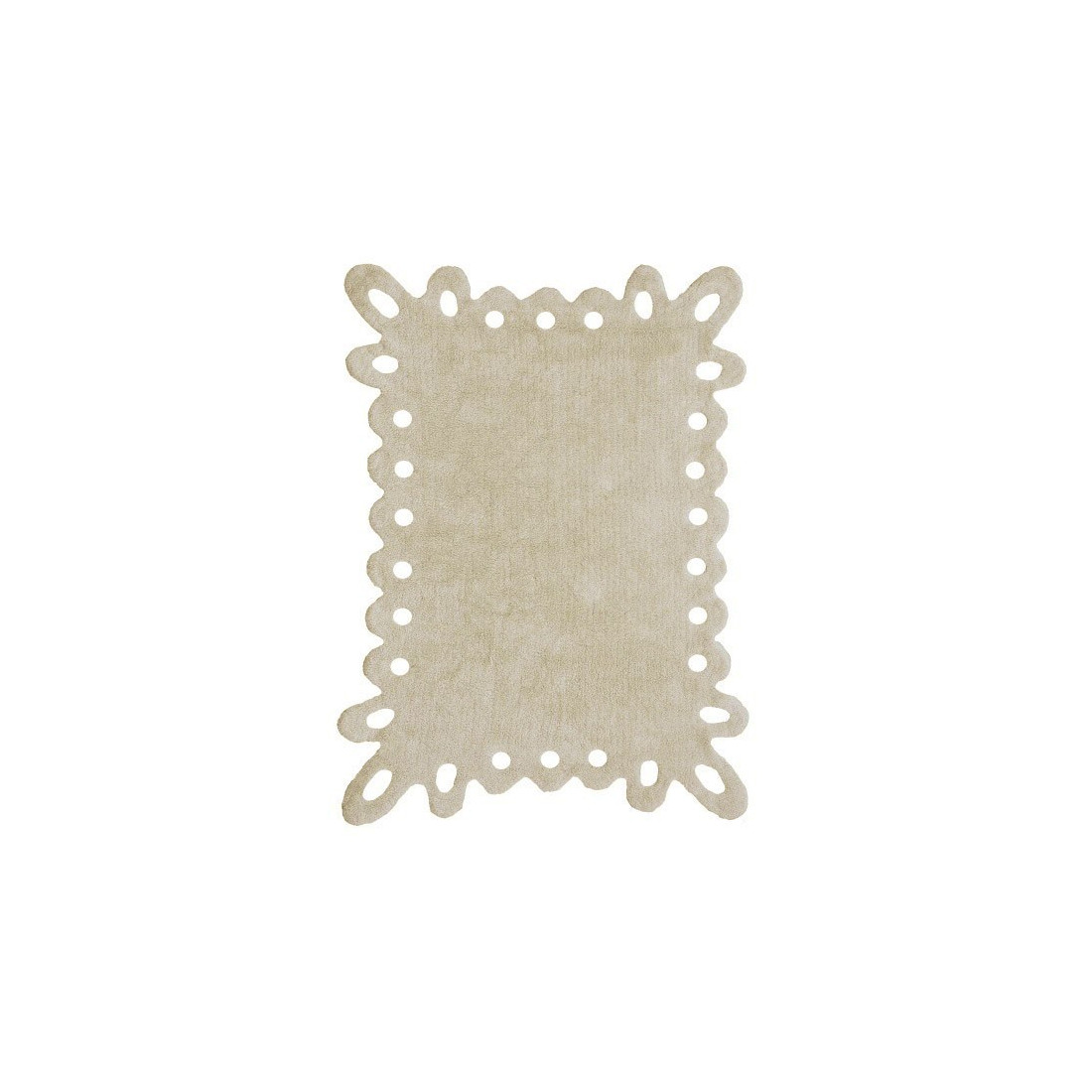 tapis enfant lavable beige puntilla lorena canals ma chambramoi. Black Bedroom Furniture Sets. Home Design Ideas