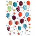 stickers Enfant ballons et étoiles multicolores lilipinso