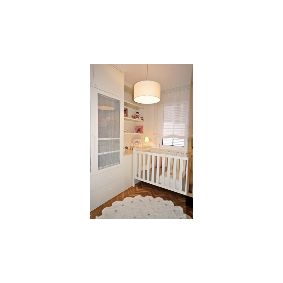 tapis enfant lavable rond blanc pois lorena canals ma. Black Bedroom Furniture Sets. Home Design Ideas