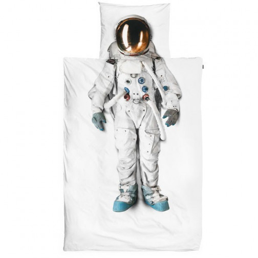 Housse de couette enfant 3D Cosmonaute Snurk avec taie