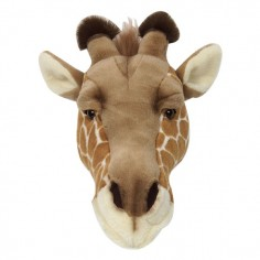 Décoration murale enfant peluche tête de girafe Bibib