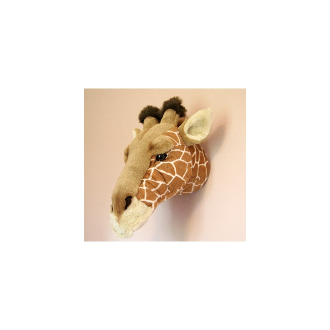 d co murale enfant peluche t te de girafe bibib ma chambramoi. Black Bedroom Furniture Sets. Home Design Ideas