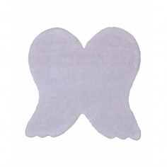 Tapis enfant lavable ailes d'ange blanc