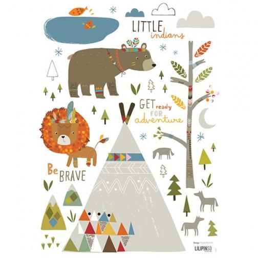 Stickers pour enfant petit Indien Lilipinso
