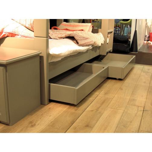 paire de tiroirs sous lit en kit 2x90x90 cm ma chambramoi. Black Bedroom Furniture Sets. Home Design Ideas