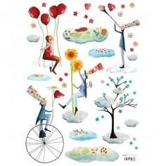 Sticker les jardiniers du ciel pour enfant Lilipinso