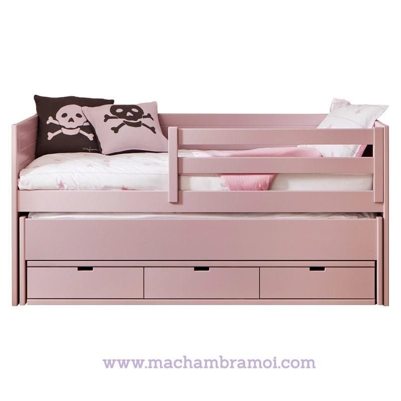 Lit Banquette Enfant X Cm Tiroirs Et Tiroir Lit Cometa - Lit avec un tiroir lit