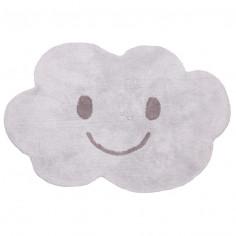 Tapis enfant lavable nuage gris Nimbus Nattiot