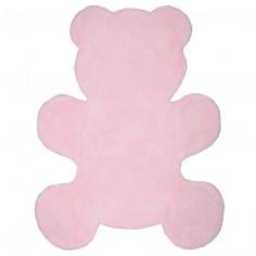 Tapis lavable Little Teddy rose Nattiot