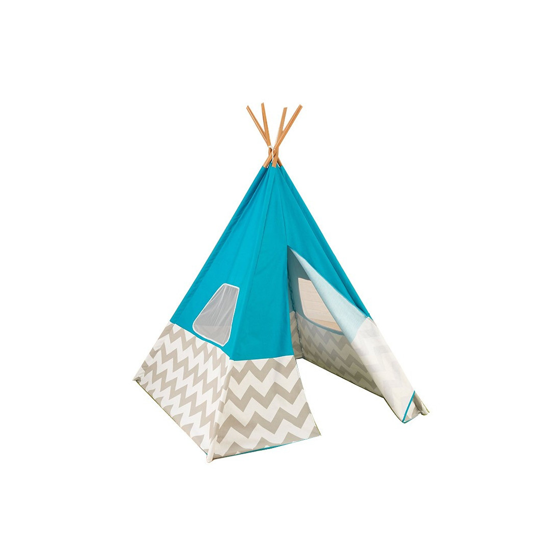 tente enfant tipi indien bleu kidkraft ma chambramoi. Black Bedroom Furniture Sets. Home Design Ideas