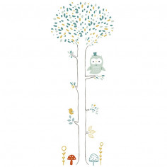 Sticker enfant XL Arbre chouette Lilipinso