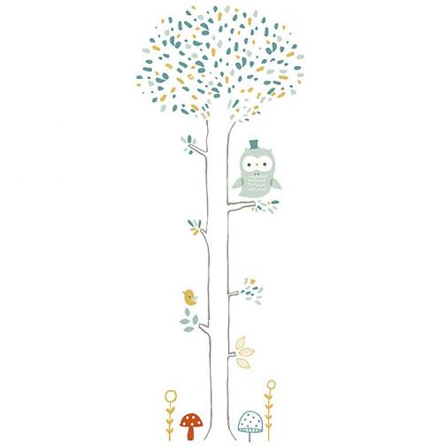 Stickers enfant XL Arbre chouette Lilipinso