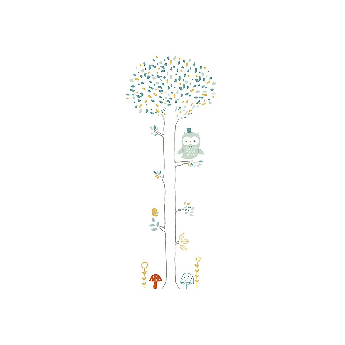 Sticker enfant xl arbre chouette lilipinso ma chambramoi for Stickers arbre chambre bebe