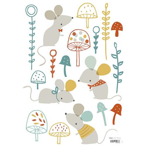 Stickers pour chambre enfant les souris Lilipinso