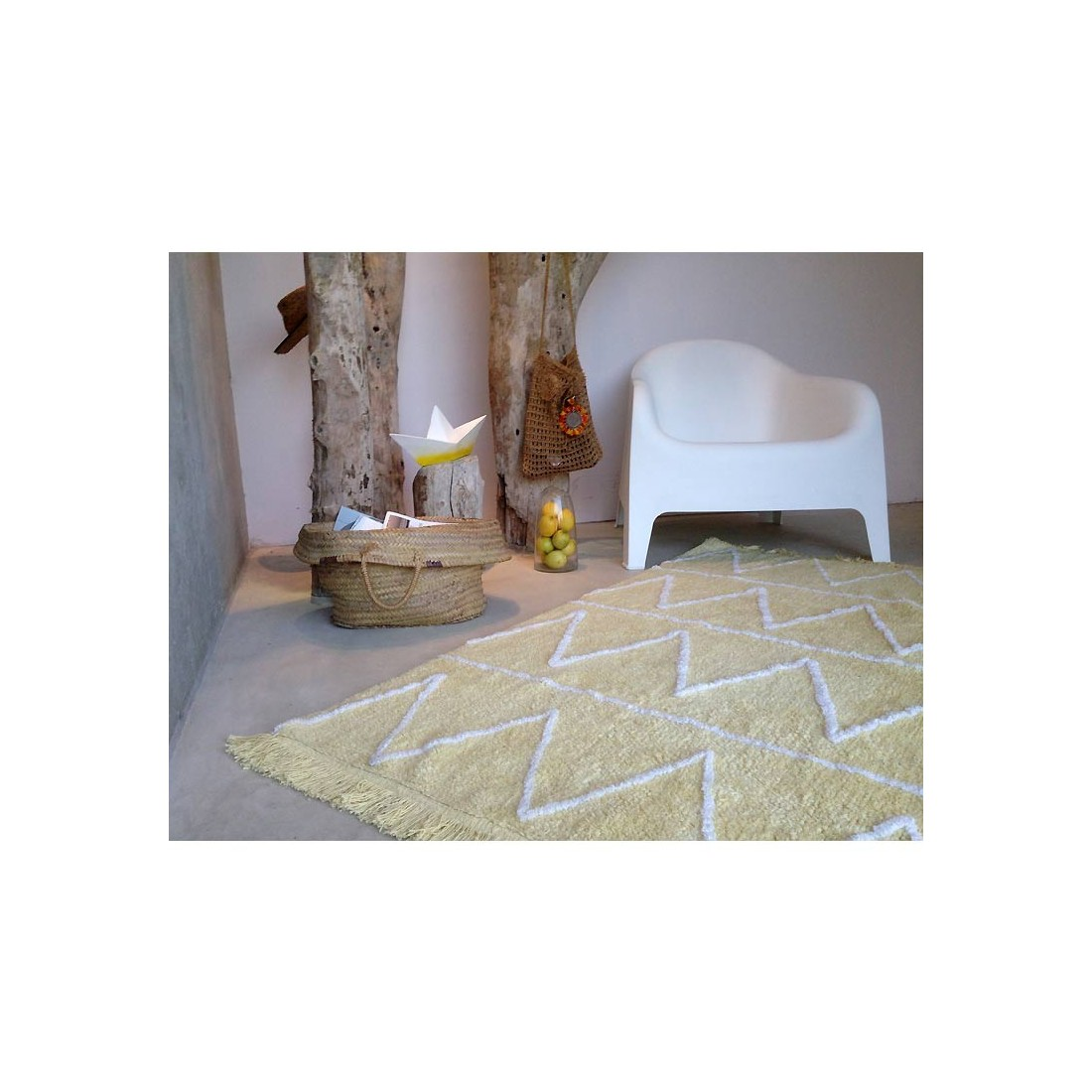tapis enfant lavable hippy jaune ma chambramoi. Black Bedroom Furniture Sets. Home Design Ideas