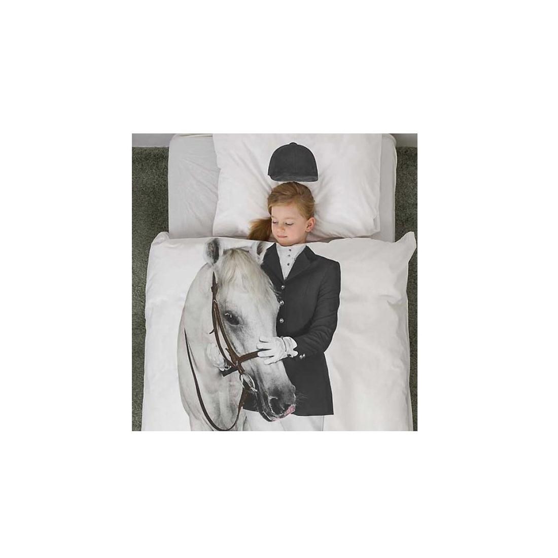 housse de couette enfant 3d cavali re snurk avec taie ma chambramoi. Black Bedroom Furniture Sets. Home Design Ideas