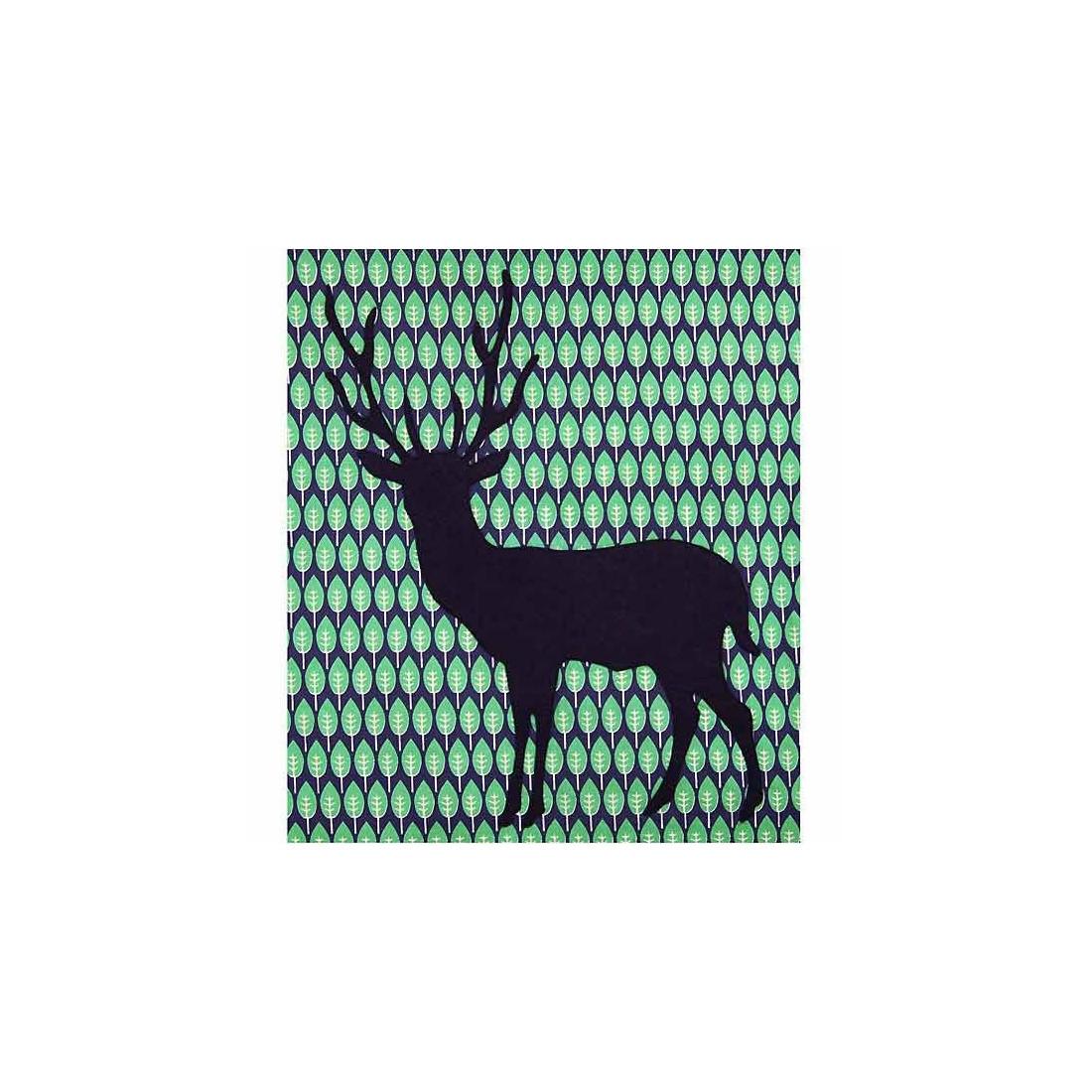 housse de couette enfant cerf taftan vert 140 x 200 cm avec taie ma chambramoi. Black Bedroom Furniture Sets. Home Design Ideas