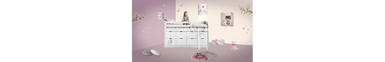 chambre enfant japonaise d co japonaise pour chambre fille ou gar on ma chambramoi. Black Bedroom Furniture Sets. Home Design Ideas