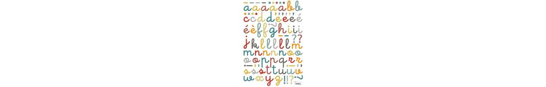 Stickers Lettre Alphabet