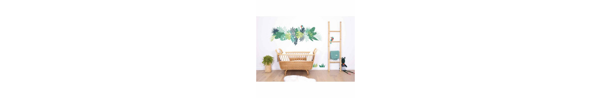 chambre enfant tropical un th me exotique ma chambramoi. Black Bedroom Furniture Sets. Home Design Ideas