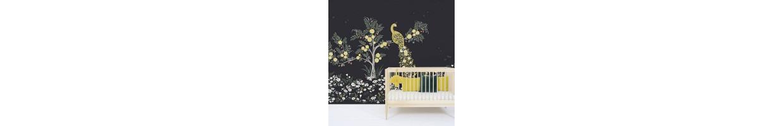 Chambre enfant Bohème chic : des stickers enfants, des affiches, une collection de déco bébé tendance noir et blanc.